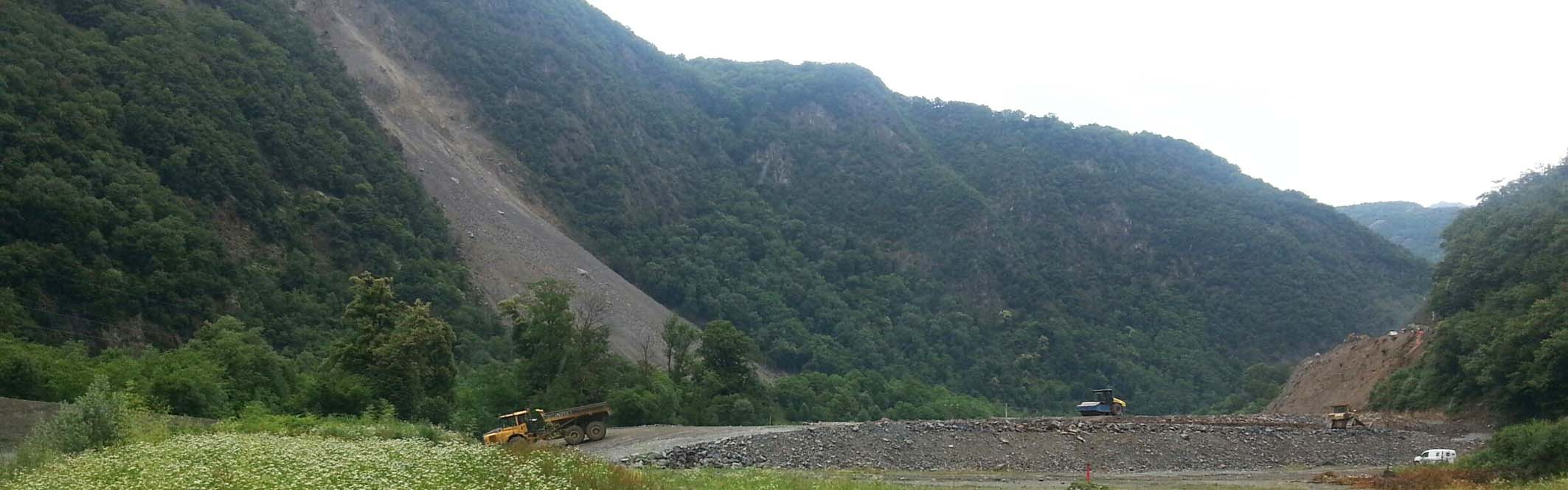 Séchilienne landslide: mitigation work at the toe of the slope